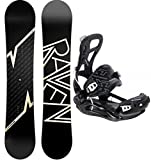 Snowboard Set: Snowboard Raven Pulse + Bindung Pathron Team XT Black (164cm Wide + XT L)