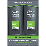 Dove Men+Care Body and Face Wash, Extra Fresh, 18 Fl Oz, 2 Ct