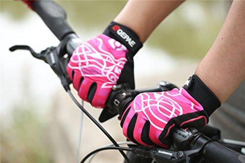 Lerway Winter MTB Handschuhe Gepolstert Race Fahrrad Handschuhe Sporthandschuhe für Radsport ,Outdoor Sport Mountainbike Damen und Herren Gloves (XL, Heiß Rosa) -