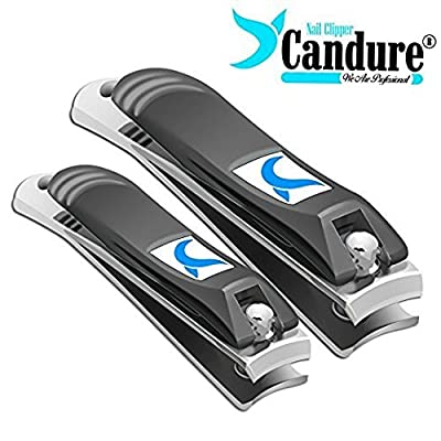 Nail Clippers Cutter for Fingers and toenails Trimmer Tool with Safety Pouch … by Candure