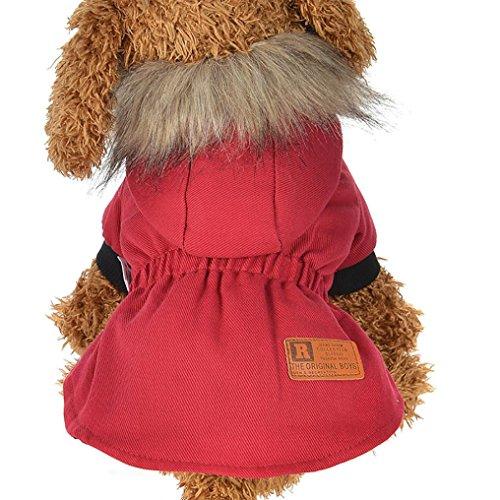 Haustier Kleidung artistic9(TM) Kleine Größe Hund Winter Coat Warm wattiert Haarverdichtung Welpen Kostüme Hoodies (Hund Und Besitzer Kostüme)