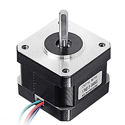 DorisDirect Nema 17 Stepper Motor Bipolar 0.4A/12V 37oz.in(26Ncm) 42mm for 3D Printer/CNC