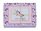 Geschenkpapier-Set für Kinder: Einhorn: 4x Einzelbögen + 1x Postkarte