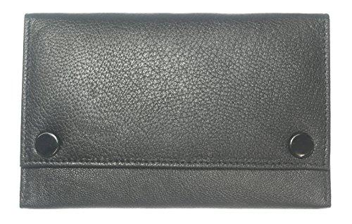 Premium-Qualität aus weichem schwarzen Leder Tabakbeutel (Rauch Blättern)
