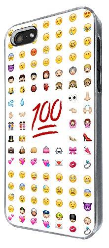 624-Cool Smiley Emoji Funky Coque iPhone 5/5S Design Fashion Trend Case Back Cover Métal et Plastique