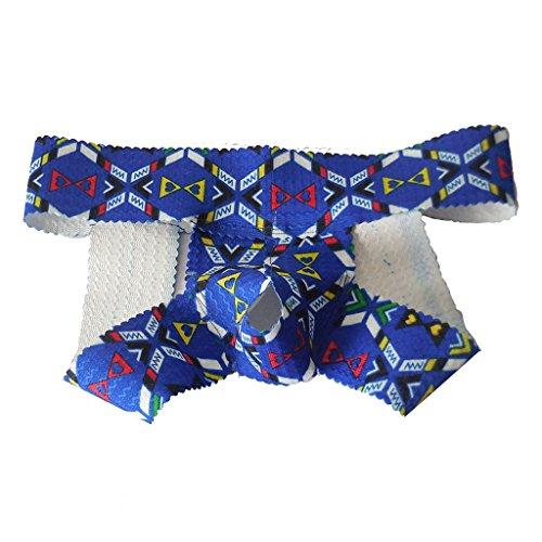 Sexy Männer Bequem Blumenmini Brifes Unterwäsche Geöffneter Beutel S  '# 1 - tiefblau