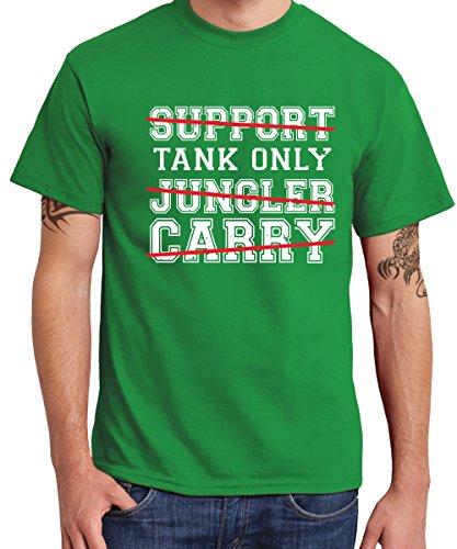 -- Tank Only -- Boys T-Shirt Kelly Green