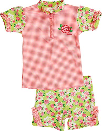Playshoes Girl's UV Sun Protection 2 Piece Swim Set Roses Swimsuit