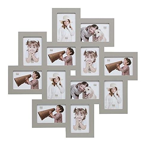 Deknudt Frames S65SV7 - Cadre Multi-Photos 12 Ouvertures Gris 10