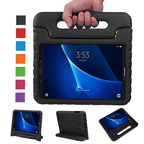 BELLESTYLE Samsung Galaxy Tab A 10.1 Zoll EVA Stoßfeste Schutzhülle Tragbar für Kinder mit Ständer Schutzhülle Standfunktion für Samsung Tab A 10.1 (SM-T580 / SM-T585) Tablet 2016 Veröffentlichung, Schwarz
