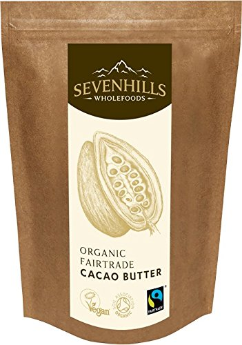 Sevenhills Wholefoods Manteca De Cacao Orgánico De Comercio Justo, Obleas, 1kg