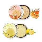 Djtanak Hair Shampoo Bar 2 confezioni, Shampoo al limone e miele, idratante, rinfrescante e controllo del petrolio, sapone naturale a base di erbe bio, cura dei capelli da viaggio e familiare