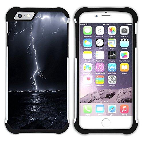 Graphic4You Blitz Blitzstrahl Sturm Hart + Weiche Kratzfeste Hülle Case Schale Tasche Schutzhülle für Apple iPhone 6 Plus / 6S Plus Design #17