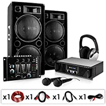 Set completo ''Block Party'' 2000W amplificatore casse mixer (Completo Dj Kit)