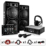 Set completo ''Block Party'' 2000W amplificatore casse mixer stand