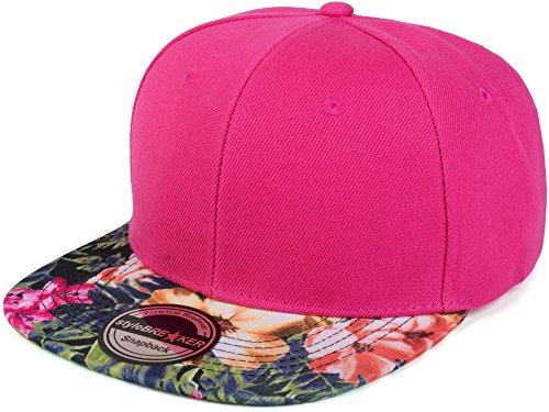 Imagen de stylebreaker  snapback con estampado de flores,  de béisbol, ajustable, unisex 04023044, color fucsia/magenta