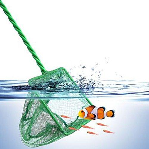 GeKLok Große Aquarium Fisch Tank Net Mesh Goldfish Aquarium Fische Kescher mit Griff (Großes Aquarium Net)
