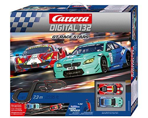 Carrera Toys-Digital 132 Circuito de Coches GT Race Stars de 7.3 m, Escala 1:32, Multicolor (20030005)