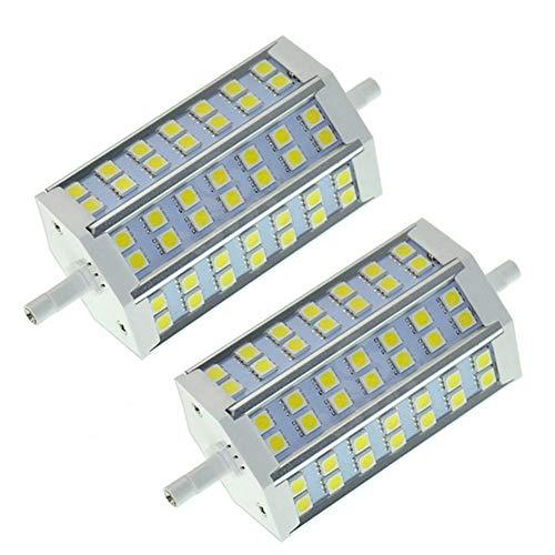 JUMRO R7S Led Lampe 10W 118Mm Linear Licht, J118 Lineare Leuchtmittel, Entspricht 100W Halogenlampe, AC85-265V 1000LM 2Er Pack,Warmwhite