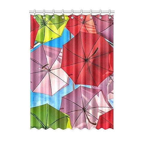 Custom Parapluie (1) Rideau de fenêtre 127cm (L) x 274,3cm (H) souple étanche Tissu Polyester, écoute, impression d'un style monobloc (9trous), Polyester, Umbrella(4),