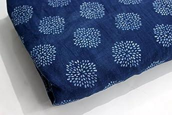HANDICRAFTOFPINKCITY Cotton Abstract Leaf Ladies Garments Cambric -(5m, Blue)