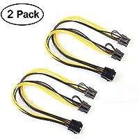 Grafikkartenkabel, VILICONTY 2 Stück 6 Pin auf 2x 8(6 + 2) Pin PCIe Express Power Verlängerungskabel (2 Stück, 8P bis 2x 8P, 30cm)