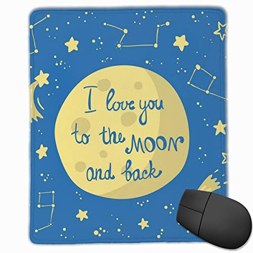 Mouse Mat Stitched Edges, Comet Feelings In Shooting Star Space Cosmic Orbit Valentines Concept,Gaming Mouse Pad Non-Slip Rubber Base