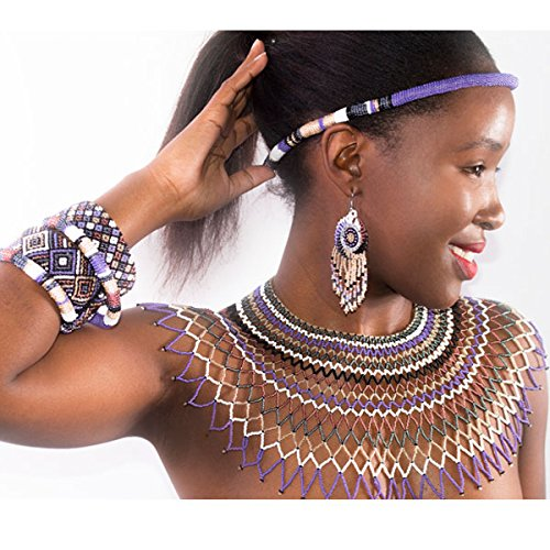 collier-en-perles-traditionnel-de-mariage-sud-africain-zoulou-violet-blanc-gris-fonce