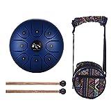Muslady lingua acciaio drum 14cm mini 8-tone C chiave strumento a percussione mano pan tamburo con testa di feltro borsa per il trasporto, Blue