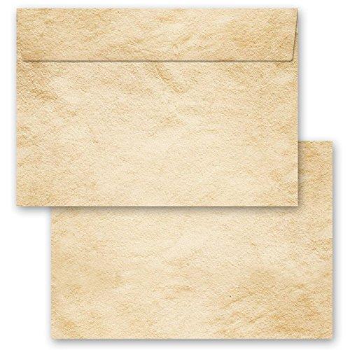 Motiv-Briefumschläge 25 Stück C6 (162x114 mm) ohne Fenster OLD STYLE, Selbstklebend mit Abziehstreifen