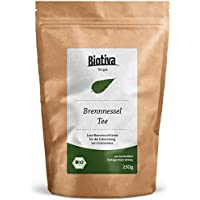 Brennnesselblätter-Tee (BIO, 250g) I Brennesseltee aus losen Blättern I 100% Bio Brennnessel-Kräuter I Abgefüllt und kontrolliert in Deutschland (DE-ÖKO-005)