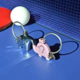 TankerStreet Paar Schlüsselanhänger Elefant Edelstahl Schlüsselanhänger Personalisiert Design (Silber + Rosa) -