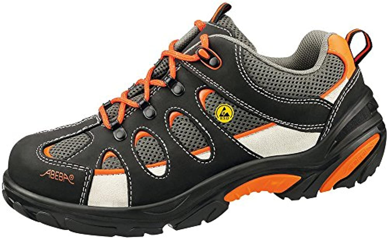 Abeba - Calzado de Protección para Hombre Multicolor Negro/Naranja 39