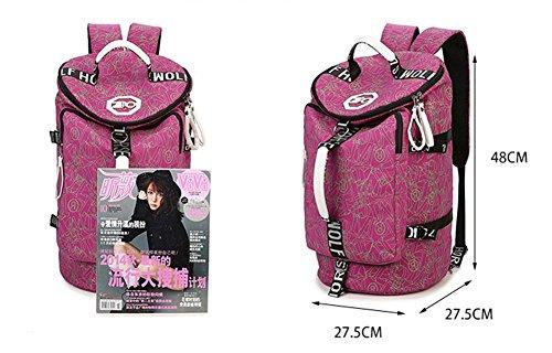 Ohmais Rücksack Rucksäcke Rucksack Backpack Daypack Schulranzen Schulrucksack Wanderrucksack Schultasche Rucksack für Schülerin rose