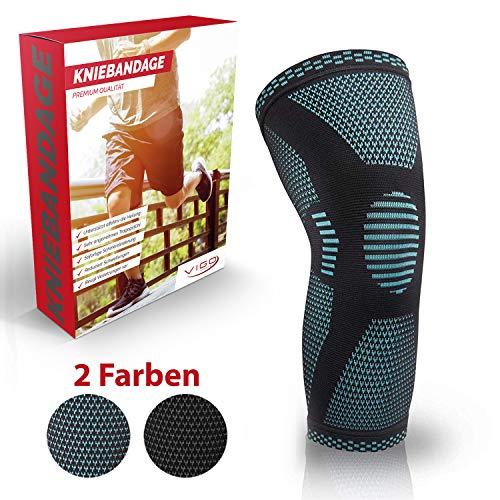 Vigo Sports® Anti Rutsch Kniebandage für Sport, Schmerzlinderung & Genesung - Optimale Knieschützer für Männer & Damen - Elastische Knieschoner für Volleyball, Laufen & joggen (XL)