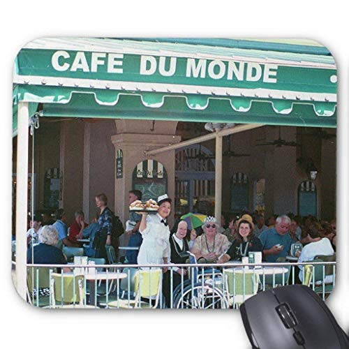 New Orleans Coffee and Beignets Mouse Pad 26cm*21cm (Black Coffee Shots)