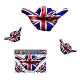 Kleine UK Englische Flagge Hangloose Lustige Auto Aufkleber Decals - ST00056_SML - JAS Aufkleber