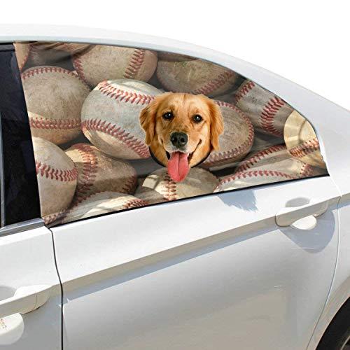 Erwachsene Jugend Competiton Erweiterte Baseball Faltbarer Hund Sicherheit Auto Gedruckt Fenster Zaun Vorhang Barrieren Protector Baby Einstellbare Flexible Sonnenschutzabdeckung Universal Für SUV -