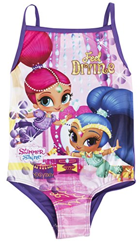 Lora Dora Shimmer and Shine Swimming Costume Girls One Piece Swimsuit Kids Swimwear Size UK 2-6 Years