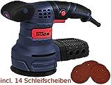 GÜDE Exzenterschleifer EXS 125 E 58130 incl. 14 Scheiben Schleifer Schleifmaschine NEU