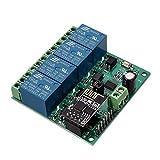 DollaTek 12V ESP8266 Vier Möglichkeiten Wifi Relais IOT Smart Home Cepphone APP Fernbedienung Schalter