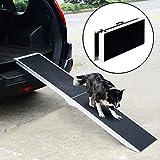 PawHut® Hunderampe Autorampe Alu Rampe Hundetreppe Haustier PKW Einstiegshilfe klappbar 183×36 cm - 2