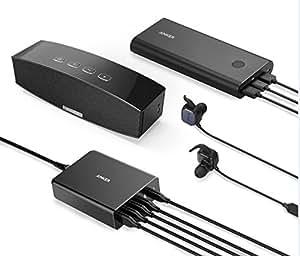 Anker Hub 9 Ports USB 3.0 + 1 Port de chargement 5V/2.1A avec 1 Adaptateur AC 12V/5A [micropuce VL812-B2 et mise à jour du pilote 9801]