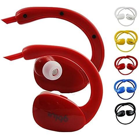 Emartbuy Gblue Rosso S80 Stereo Senza Fili Bluetooth Sportivo Cuffia Auricolari Auricolari Supporta Chiamate in Vivavoce con Microfono Per Highscreen Power Ice Evo / Power Rage Evo