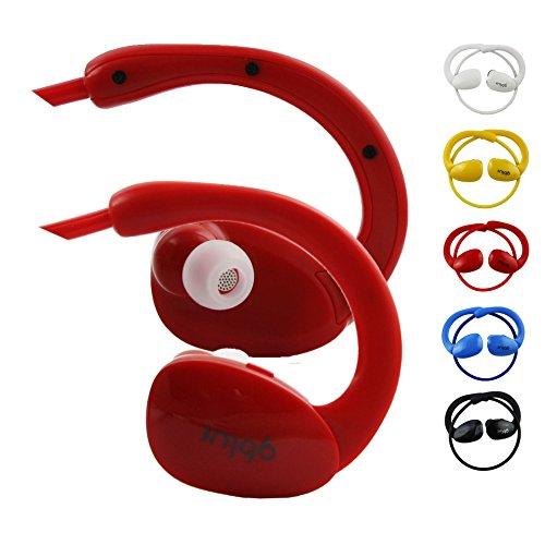 Emartbuy GBlue Rosso S80 Stereo Senza Fili Bluetooth Sportivo Cuffia Auricolari Auricolari Supporta Chiamate in Vivavoce con Microfono Per Verizon Gizmotab 8 Pollice HD Tablet PC