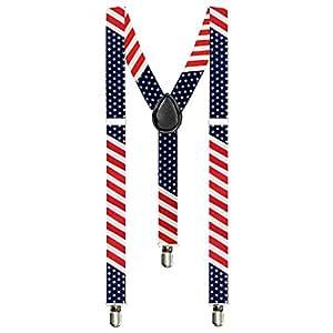 Taffstyle® Elastische Y Form Hosenträger mit 3 Clips und verstellbare Länge – Fanartikel für Fussball Weltmeisterschaft WM Fußball EM Europameisterschaft 2016 mit Flagge Motiv Style – Land