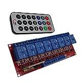 MagiDeal 4/8-Kanäle Relais Modul Brett Relaismodul Für Arduino Relay Module - 12v 8 Kanal mit Ir Fernbedienung