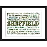 Der Sound von Sheffield - Typografie Druck A3 / A4 / A5 / 5 x 7/8 x 10