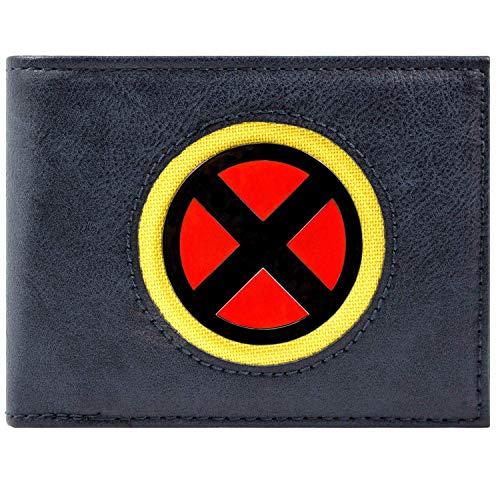 Marvel X-Men schick Machen silberner Schild Blau Portemonnaie Geldbörse (Beast X Men Kostüm)