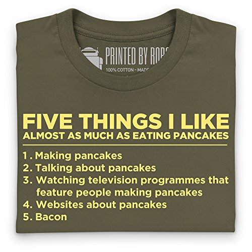 Five Things I Like - Pancakes T-Shirt, Damen Olivgrn